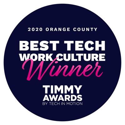 Best tech work culture winner, Zigzy, for 2020 in Orange County