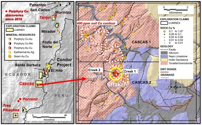 Figure 1. Regional location map and simplified geology. (CNW Group/Luminex Resources Corp.)