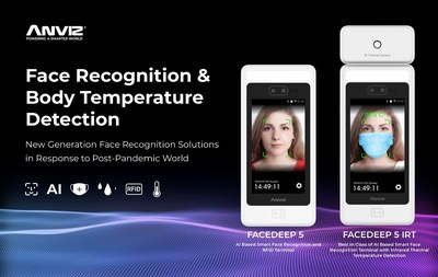 FaceDeep 5 is Anviz's newest smart face recognition terminal with a temperature screening function