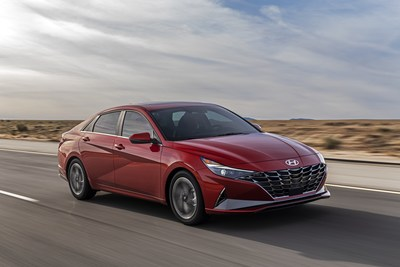 Hyundai Announces Pricing for New Feature-Rich 2021 Elantra Lineup - 2021 Elantra Limited shown here