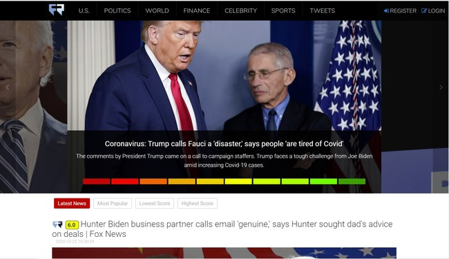Trust Scoring For The Accuracy of Latest News