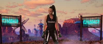Omaira Molina, a top lightweight contender from Venezuela, competes in Karate Combat's second season, airing Thursdays at 10 p.m. ET on ESPN Deportes. Fights take place in a virtual world created by Unreal Engine.