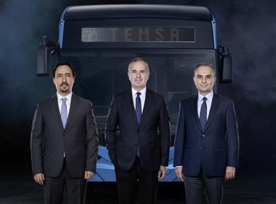(left to right) Tolga Kaan Dogancioglu – Temsa CEO, Cenk Alper – Sabanci Holding CEO, Cevdet Alemdar - Industry SBU President of Sabanci Holding