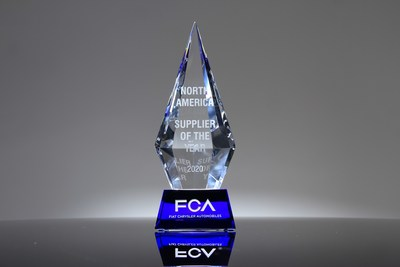 FCA honored 31 supplier partners across 19 categories Friday, Oct. 23 during the virtual 2020 North America Annual Supplier Conference and Awards program. The Supplier of the Year awards recognize companies that have shown exceptional commitment to FCA, providing innovative and high-quality products and services.