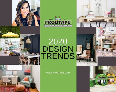 Celebrity interior designer Taniya Nayak teamed up with FrogTape® brand painter's tape to develop the interior design trends that will help consumers embrace a new way of living in the New Year.