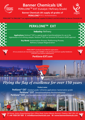 PERKLONE™ EXT Catalyst , Isomerization Grade Banner Chemicals UK (PRNewsfoto/Banner Chemicals UK)