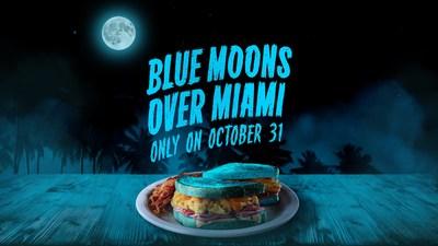 Blue Moon, Blue Breakfast: Denny's Turns Iconic «Moons Over My Hammy» Breakfast Sandwich Blue for Halloween