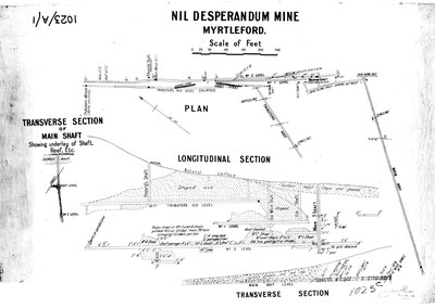 Figure 7 - Longitudinal section of the Nil Desperandum mine at Myrtleford, adjacent to EL006724. As is evident from the longitudinal section, mineralisation appears to be open to depth and may present a near term target to test for high grade extensions at depth. Numerous such deposits exist on the project area and present the Company with near term development opportunities. (CNW Group/E79 Resources Corp.)