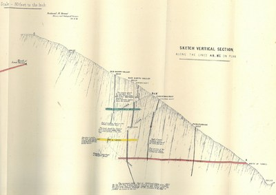Figure 8 – Historical sections showing the Old Happy Valley, New Happy Valley, Christmas and the Porepunkah reefs. The setting of 4 high grade reefs, in close proximity which have not been drill tested at depth presents a near term drill target for the Company. (CNW Group/E79 Resources Corp.)