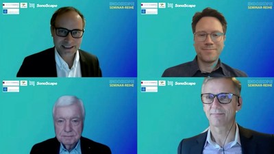 "Webinars on ""Quality Management of Endoscopy"" and ""Update on Endoscopic Resection"" were conducted in German language, by Prof. H. Neumann (top left), Prof. J Riemann (bottom left), Prof. Pech (top right) and Dr. Hohn (bottom right). These webinars offer CME points to German healthcare professionals who have participated the live broadcast, or watched the recording posted on-line after the event."