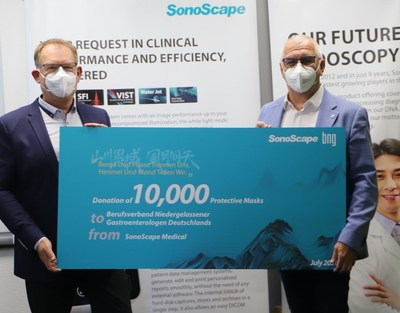 Mr Loibl, representing BNG (right) and Mr Wellmann, CEO of EndoSave (left) holding the ceremony sign, posing for photos that record one of the many moments of trust and mutual support.
