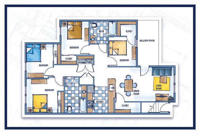 Whispering Creek Apartment Floor Plan | APARTMENTS IN COLUMBUS OHIO FOR RENT