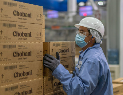 Chobani is increasing the starting wage for their hourly employees to $15 an hour, more than double the federal minimum wage. A Chobani employee, seen here, at the company's manufacturing plant in South Edmeston, N.Y.