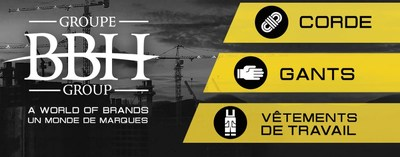 Groupe BBH se spécialise en design, conception et distribution de produits de protection individuelle comme les gants (de travail et de sport), les équipements de sécurité, les cordes industrielles, ainsi que les vêtements de travail et de haute visibilité. (Groupe CNW/Fonds de solidarité FTQ)