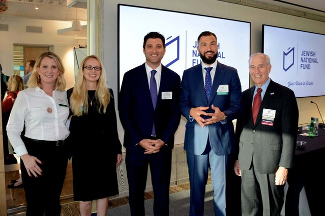 (L-R): Melissa Groisman (Founder, MGLPA and past event sponsor), Maia Aron (General Counsel, Florida Company, MM&H, and JNF-USA President, Miami), Gabe Groisman (Mayor of Bal Harbour, FL), Adam Yormack (Founder, Yorkmack Law and JNF-USA Lawyers For Israel & Real Estate Chair, Miami) and Ron Kriss (Senior Counsel, Strook, and JNF-USA President, South Florida)