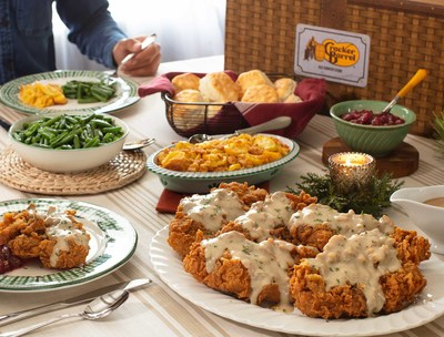 In recognition of Military Family Appreciation Month, Cracker Barrel will donate a $10 Cracker Barrel gift card to Operation Homefront for each Country Fried Turkey Family Meal Basket sold in the month of November (up to $50,000) to ensure military families across the country are able to share in the tradition of a warm, homestyle holiday meal this season. To place an order, visit crackerbarrel.com/giveback.