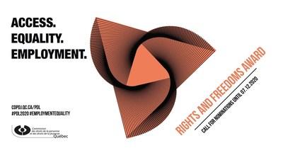 Visual of the Rights and Freedoms Award 2020 #PDL2020 (CNW Group/Commission des droits de la personne et des droits de la jeunesse)