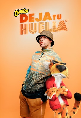 Cheetos and Bad Bunny are Rallying Fans in Latinx-Forward Campaign. Calling on the Next Generation to Deja Tu Huella (Leave Your Mark) Kicking Off a Generational Call to Action, Cheetos® is Giving Back to the Hispanic Community with a $500,000 Commitment. A Collaboration Between Bad Bunny and Chester Cheetah Will Be Unveiled During the