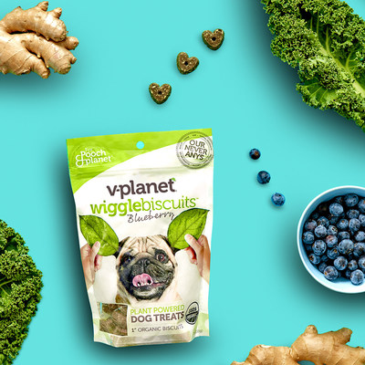 V-planet introduces its plant-powered wiggle biscuit dog treats and breathbones chews in 11 international markets.