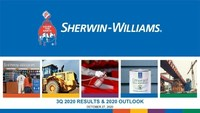 The Sherwin-Williams Company Reports 2020 Third Quarter Financial Results