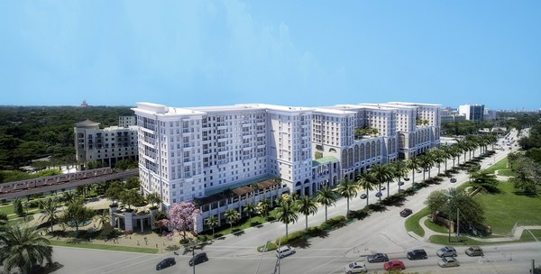 A rendering of the new Life Time Coral Gables development, now preleasing.