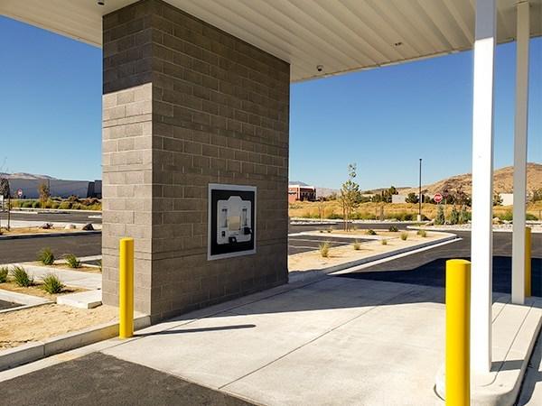 Innovative DMV drive through kiosk installed at the Nevada DMV office located in South Reno.