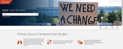 Gale Case Studies main navigation page.