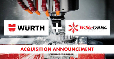 Würth Industry North America (WINA) announced today that it has acquired the Louisiana Assets of Techni-Tool Inc.