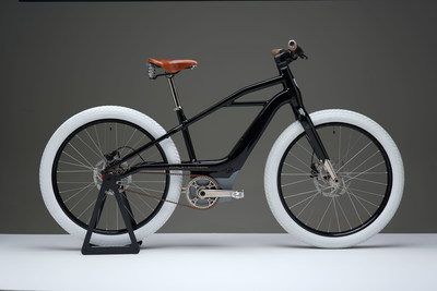 Serial 1 prototype eBicycle fashioned as a tribute to the original Harley-Davidson motorcycle known as 'Serial Number One.'
