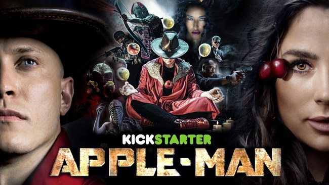 The poster of Apple-Man, the first healthy lifestyle superhero movie