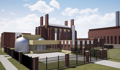 Rendering of the Ultra Safe Nuclear Corp. Micro Modular Reactor proposed for construction on the University of Illinois at Urbana-Champaign campus, the first U.S. university research and test reactor to be deployed in nearly 30 years. (PRNewsfoto/Ultra Safe Nuclear Corporation)