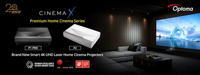 Optoma Expand Award-winning CinemaX Series with P1 PRO and P2 in India.