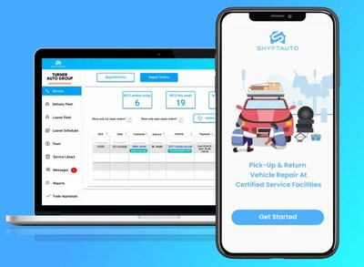 Shyft Auto gives consumers and automotive service facilities an easy way to transact for pickup and delivery vehicle service