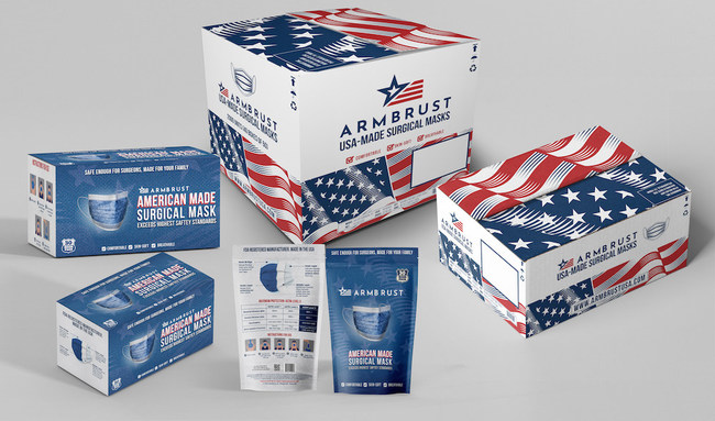 Debuting new packaging for Armbrust American Surgical Masks.