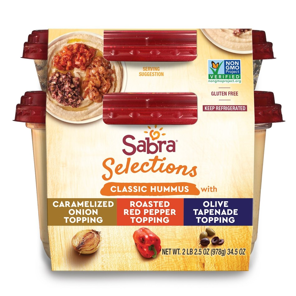 Sabra Selections Classic Hummus with Three Toppings Varieties