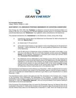 GEAR ENERGY LTD. ANNOUNCES PROPOSED AMENDMENTS OF CONVERTIBLE DEBENTURES (CNW Group/Gear Energy Ltd.)