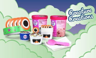 Baskin-Robbins' new DIY Creature Creations® Kits are the perfect activity for anyone who wants to dress up their ice cream as one of three whimsical creatures. Amp up the Halloween fun with the Unicorn, Monster and Mermaid, now available for delivery through Uber Eats.