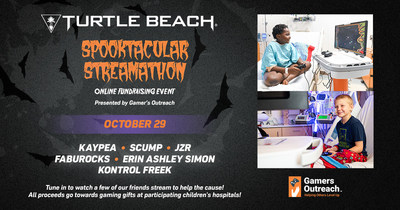 Turtle Beach and ROCCAT brand ambassadors KayPea, Scump, JZR, FabuRocks, Erin Ashley Simon, and Kontrol Freak take over the Spooktacular Screamathon charity event on October 29th