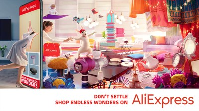 """Alibaba Group's global retail online marketplace invites consumers worldwide to """"Shop Endless Wonders on AliExpress"""""""