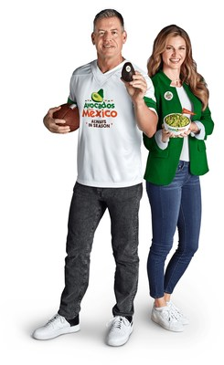 "Avocados From Mexico partners with sportscasters Troy Aikman and Erin Andrews for ""Make The Big Game Your Bowl Game"" shopper engagement program, featuring POS merchandising solutions and in-store merchandising available for free to all grocery retailers."