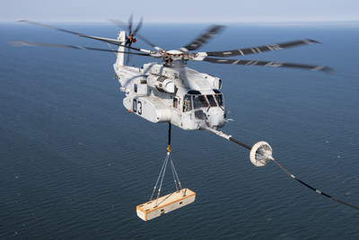 The CH-53K has flown more than 2,000 flight hours validating the aircraft's performance , including testing on a ship and in both hot and cold environments. This year, the helicopter completed air-to-air refueling with a 27,000-lb. external load demonstrating its ability to enable heavy-lift transport from sea to shore.