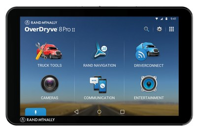 The new OverDryve 8 Pro II is the second generation of Rand McNally's top-of-the-line in-cab devices for professional drivers