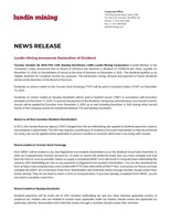 Lundin Mining Announces Declaration of Dividend (CNW Group/Lundin Mining Corporation)