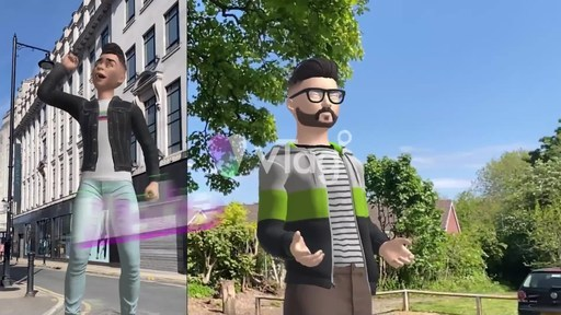 Create and share 3D avatar moments with vTag