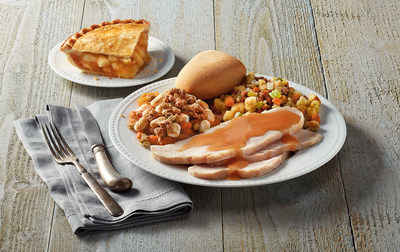 Boston Market, known this time of year as the Holiday Experts®, will be open on Thanksgiving Day for those looking to enjoy a hot meal or pickup last minute sides or deserts. The rotisserie experts will be serving individual Thanksgiving meals while supplies last that include roasted turkey breast, stuffing, sweet potato casserole, a dinner roll and a slice of  apple or pumpkin pie for dessert.