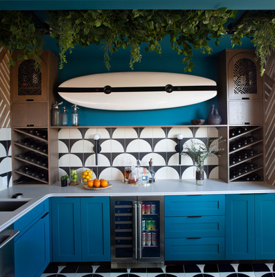 """""""The Presrv Cooler was perfect for our design with just the right amount of space for chilling those bottles of wine while also holding all the mixers for creating special cocktails,"""" says Cristina Casañas-Judd and General Judd with Me + General Design. """"With this being a home bar, we wanted to give it a fun grown-up appeal, and the Presrv Cooler delivered."""""""