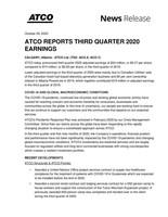 ATCO Ltd. Q3-2020 Earnings (CNW Group/ATCO Ltd.)