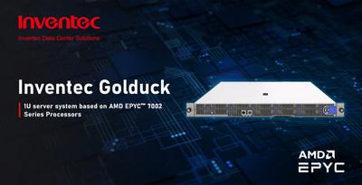 Inventec Golduck : 1U server system based on AMD EPYC™ 7002 Series Processors