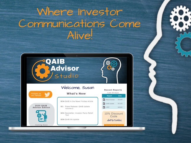 The QAIB Advisor Studio is an online, interactive hub for investor behavior related content, research and data from leading market research firm DALBAR, Inc.