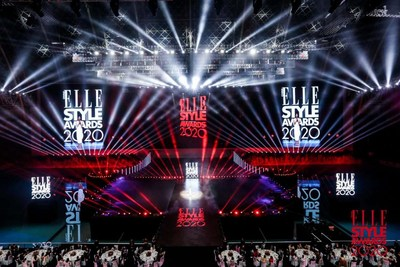 The glorious moment of ELLE's 75th anniversary (PRNewsfoto/ELLE China)